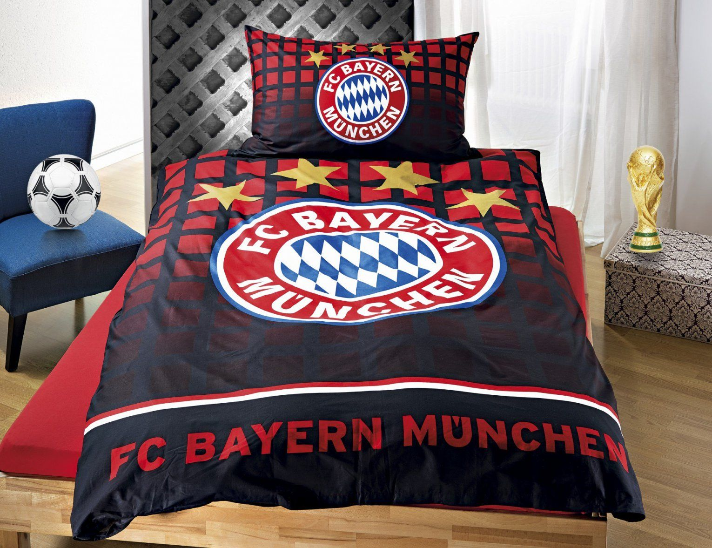 Bettwäsche Bayern München Schwarz Günstig ⋆ Lehner Versand von Bayern München Bettwäsche Real Photo