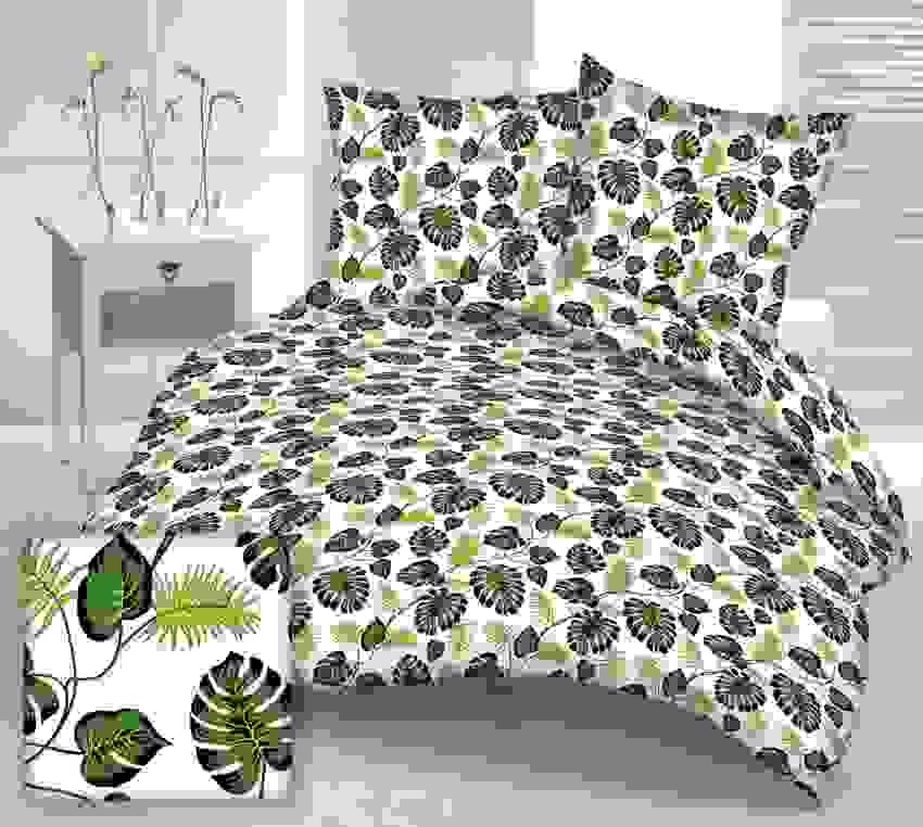 Bettwäsche Bettwäsche 160200 2x7080 Palmen Monstera Blätter Von