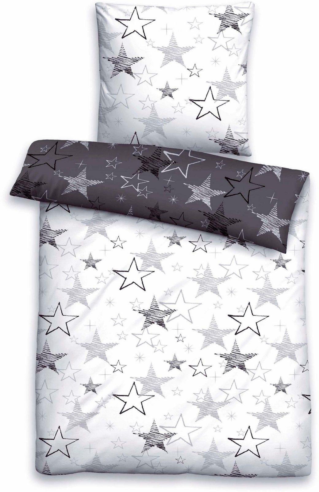 Bettwäsche Biberna Shining Mit Vielen Sternen Kaufen  Baur von Baur Bettwäsche 155X220 Photo