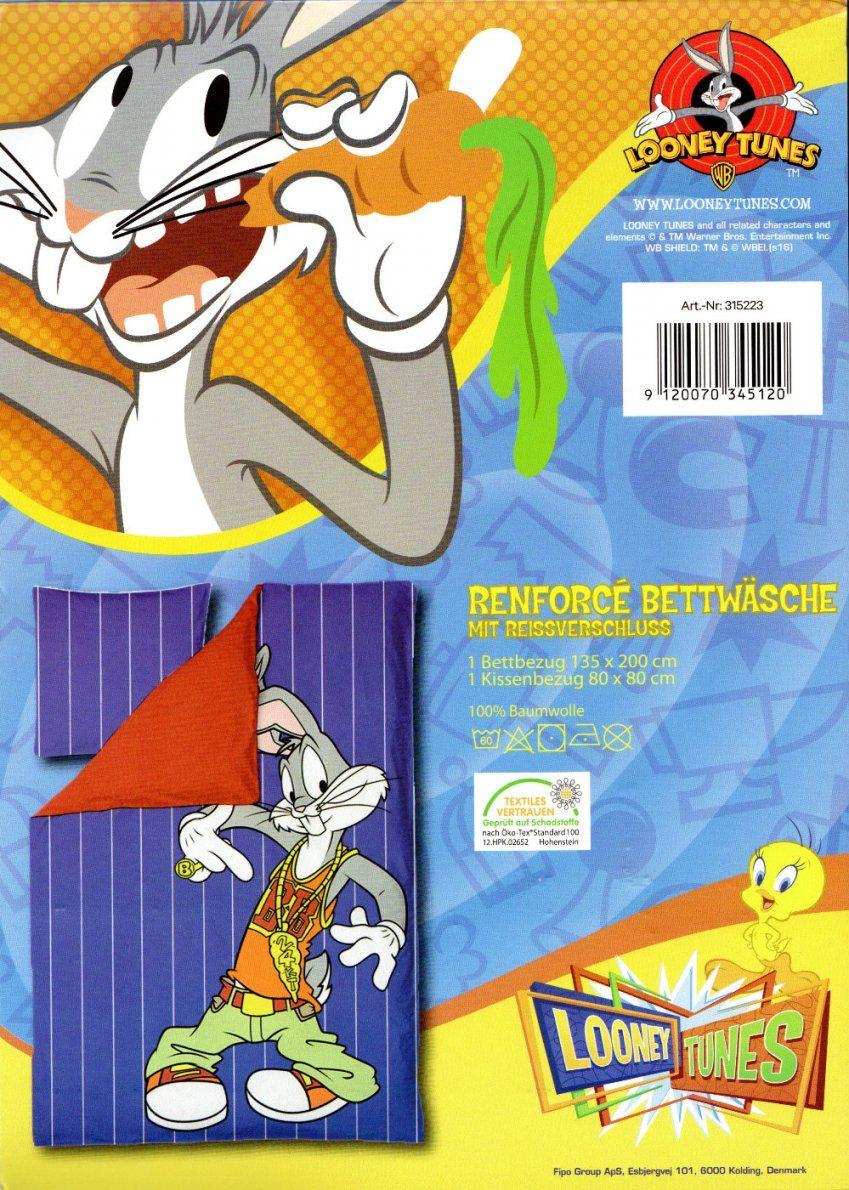 Bettwäsche Bugs Bunny Looney Tunes  135X 200Cm + 80X 80Cm von Novel Bettwäsche 155X220 Photo