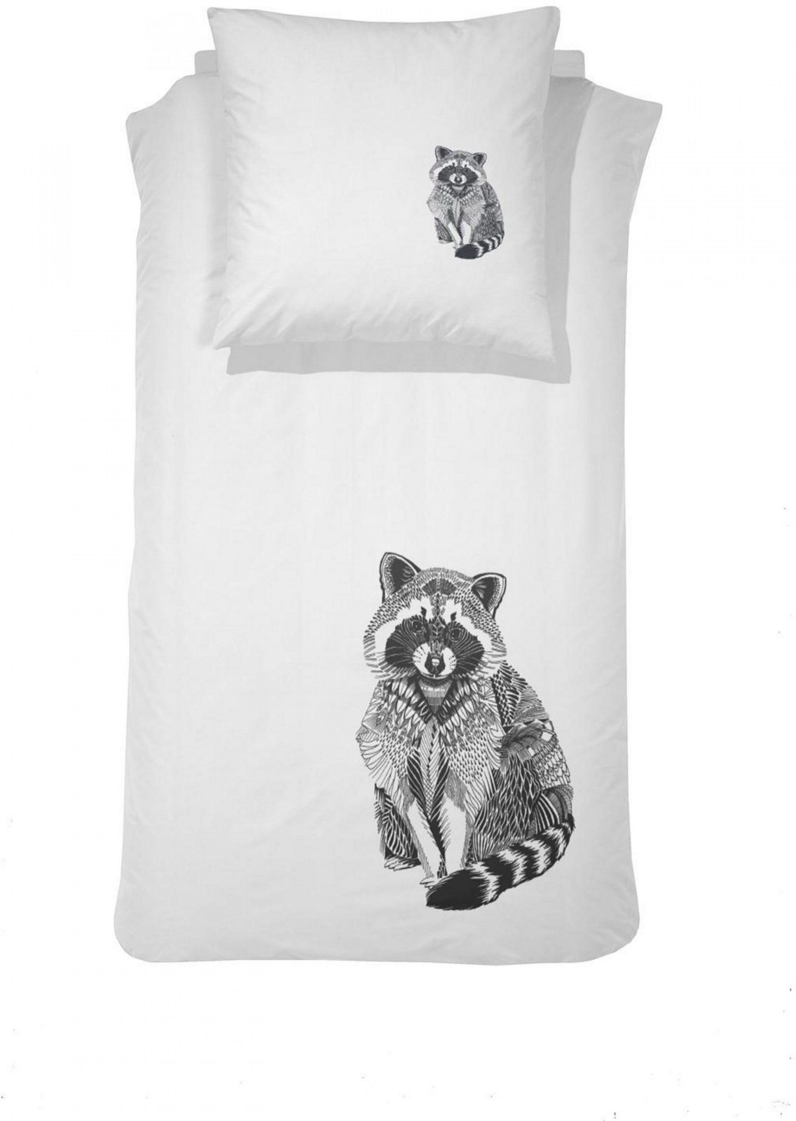 Bettwäsche Damai Raccoon Mit Tiermotiv Bestellen  Baur von Bettwäsche Mit Tiermotiv Bild