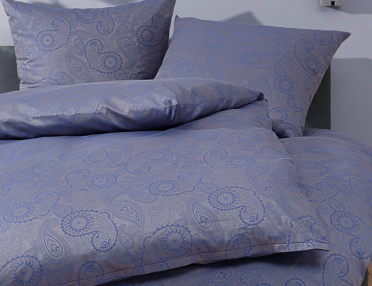 Bettwäsche Davos Blau Kaufen  Bettwaeschemitstil von Bettwäsche 200X200 Blau Photo