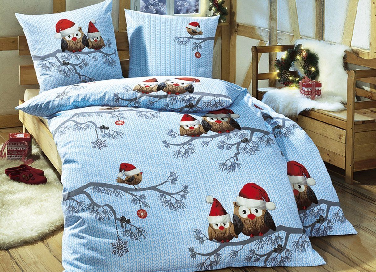 Bettwäsche Eule Weihnachten  Conferentieproeftuinen von Weihnachts Bettwäsche 155X220 Bild