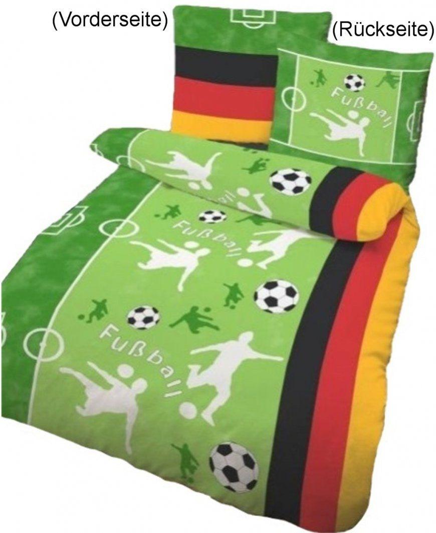 Bettwäsche Fußball Grasgrün 135X200Cm Biber von Fussball Bettwäsche Biber Bild