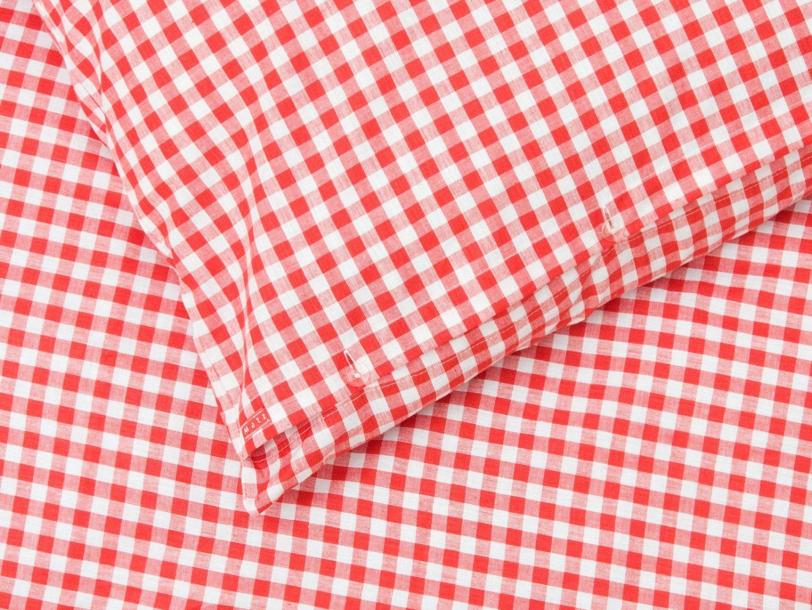 Bettwäsche  Karierte Bettwäsche Karo Rot Weiß 160210+65100Cm von Rot Weiß Karierte Bettwäsche Bild