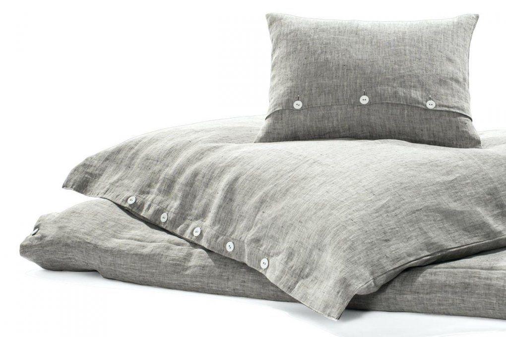 Bettwasche Leinen Rainy Day Dunkelgrau Meliert 135 X 200 Cm 1 Kissen von Leinen Bettwäsche Erfahrungen Bild