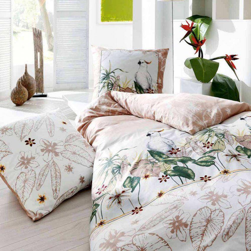 Bettwasche Mako Satin 135X200 Pfeiler Mako Satin Bettwsche Blumen von Kaeppel Mako Satin Bettwäsche 135X200 Bild