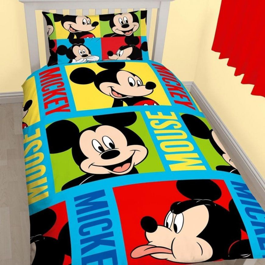 Mickey Mouse Kinderzimmer Bettwaesche Sets Dibinekadar Decoration