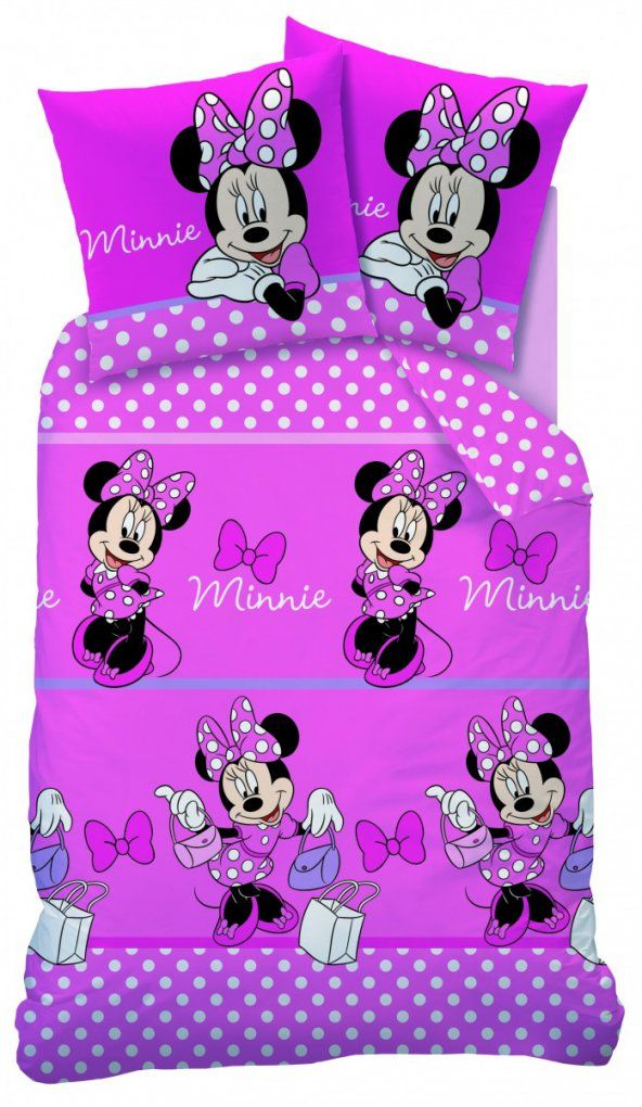 Bettwäsche Minnie Mouse Bettw Sche Set Disney Minnie Maus 140X200 von Minni Maus Bettwäsche 100X135 Bild