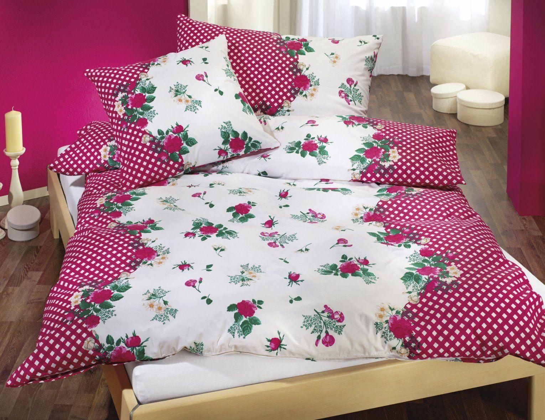 Bettwäsche Mit Blumen Rotweiss Kariert Günstig ⋆ Lehner Versand von Rot Weiß Karierte Bettwäsche Bild