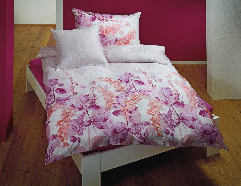 Bettwäsche Mit Künstlerischen Blumen In Rosa Tönen ⋆ Lehner Versand von Blumen Bettwäsche Rosa Bild