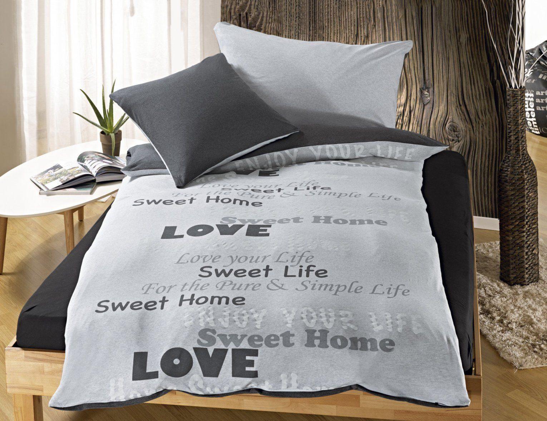 Bettwäsche Mit Schriftzug Sweet Home ⋆ Lehner Versand von Bettwäsche Mit Sprüchen Bild