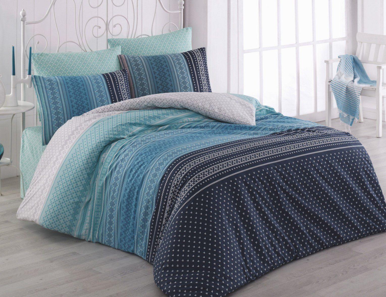 Bettwäsche Nordisches Muster In Blautönen Günstig ⋆ Lehner Versand von Bettwäsche 200X200 Blau Bild