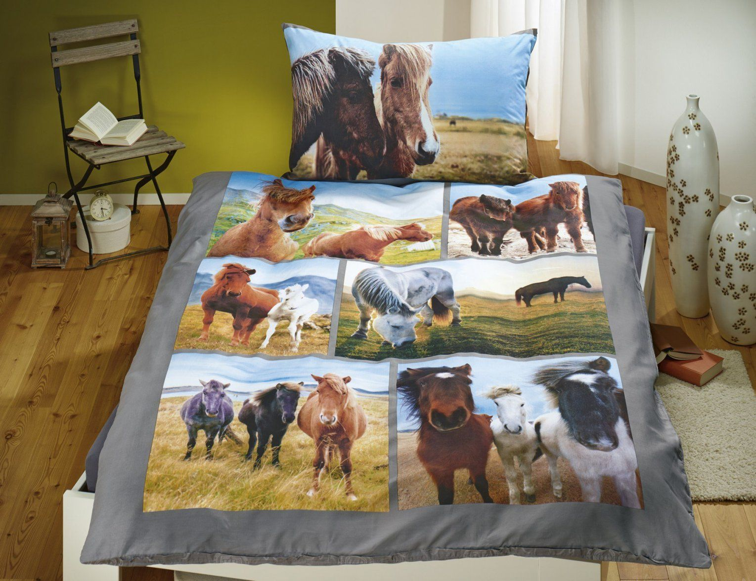 Bettwäsche Pferde Strand & Wiese Günstig ⋆ Lehner Versand von Kinderbettwäsche Mit Pferden Bild