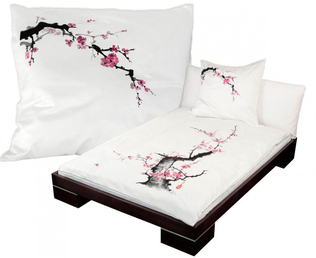 Bettwäsche Pflaumenblüte Online Bei Edofuton Kaufen  Edofuton von Bettwäsche Japanische Motive Bild
