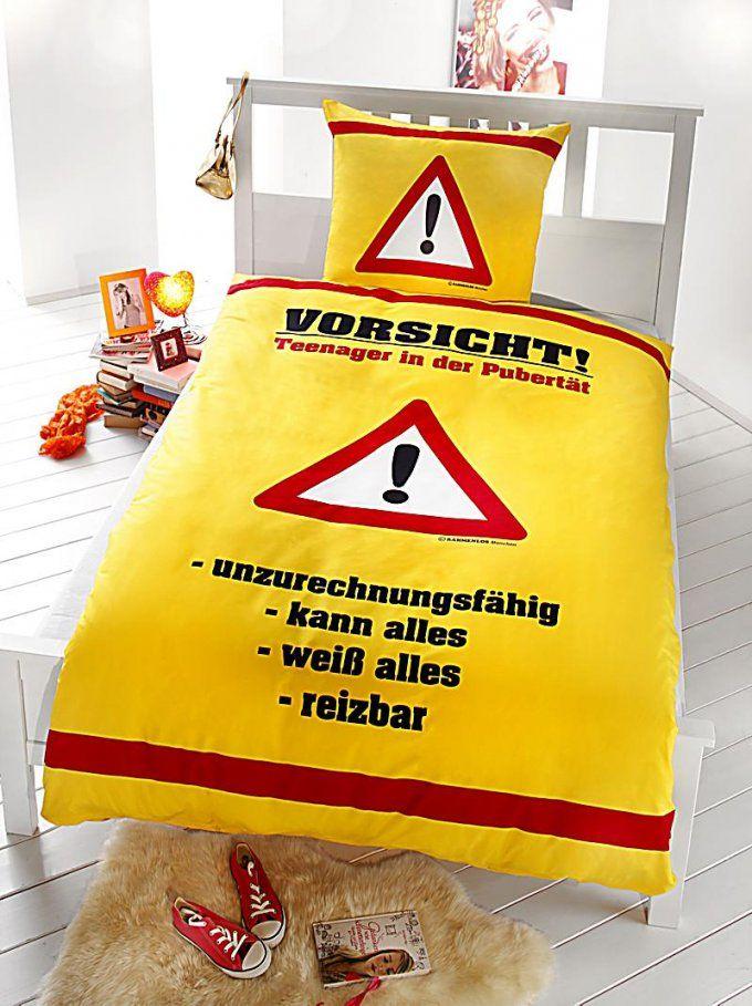 Bettwäsche Rahmenlos Vorsicht Teenager Größe 135 X 200 Cm  Weltbild von Bettwäsche Für Teenager Bild