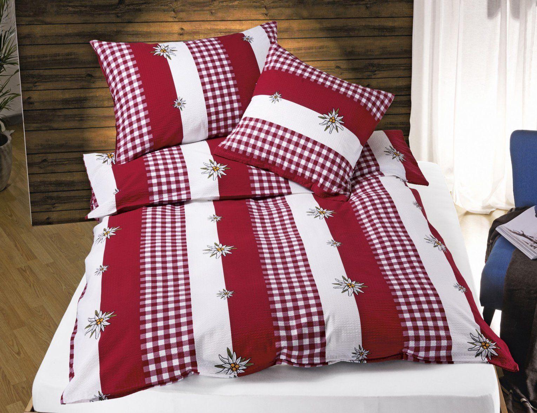 Bettwäsche Rotweiss Mit Edelweiss ⋆ Lehner Versand von Bettwäsche Rot Weiß Kariert Bild