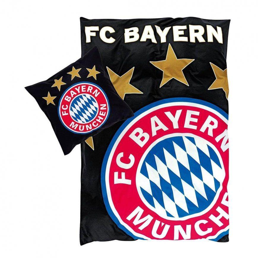 Bettwäsche Schwarz Günstig Online Kaufen  Real von Fc Bayern Bettwäsche 155X220 Bild