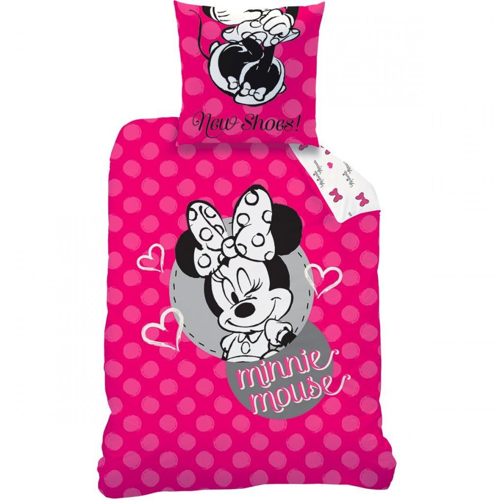 Bettwäsche Set Disney Minnie Maus 135X200 80X80 Linon Minnie Mouse von Bettwäsche Minnie Maus Bild