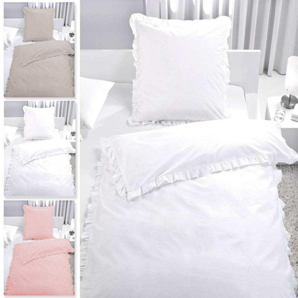 Bettwäsche Set Rüschen 100% Baumwolle Reißverschluss Romantik von Weiße Bettwäsche Mit Rüschen Photo
