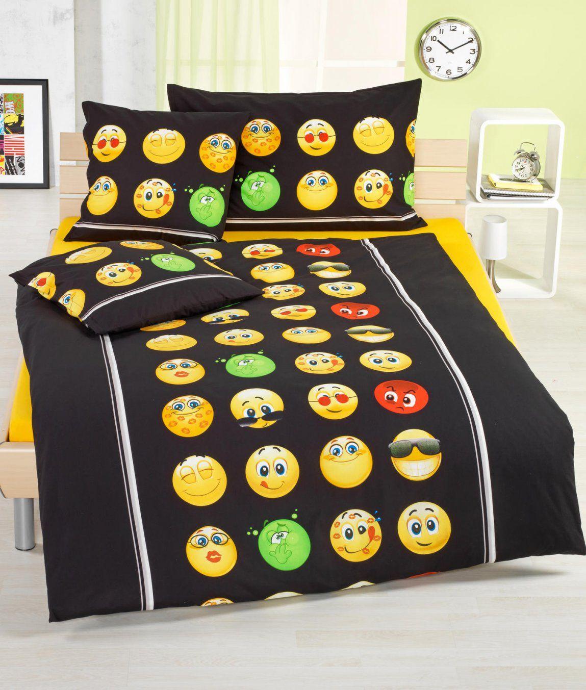 Bettwäsche Smiley Baumwolle Renforcé Kaufen  Angela Bruderer Online von Lustige Bettwäsche Für Teenager Photo