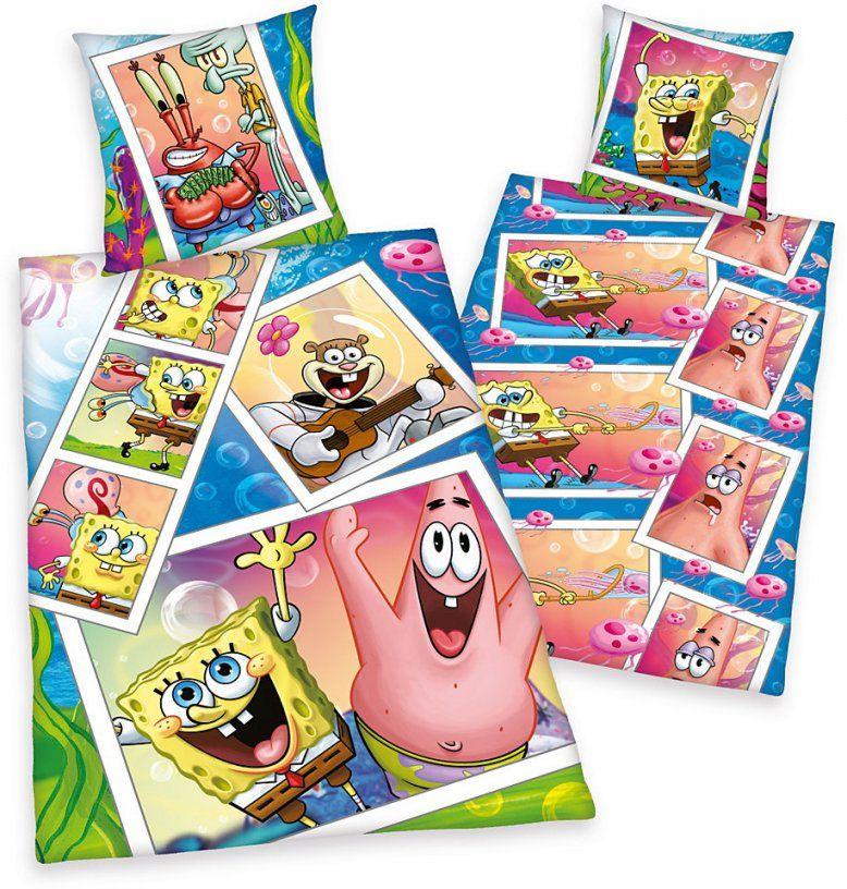 Bettwäsche Spongebob Mit Spongebob Und Patrick Im Ottoshop von Otto Katalog Bettwäsche Bild
