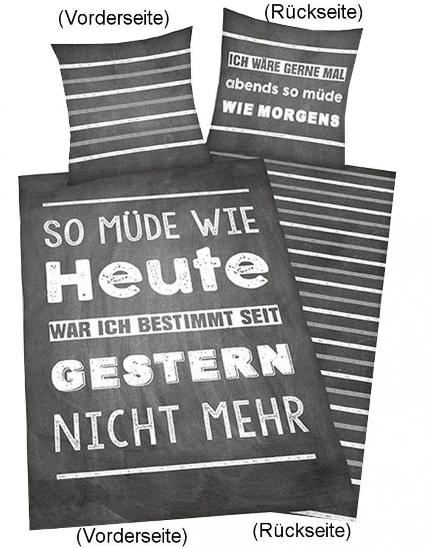"""Bettwäsche """"sprüche"""" 135X200Cm Renforce von Bettwäsche Mit Sprüchen Photo"""