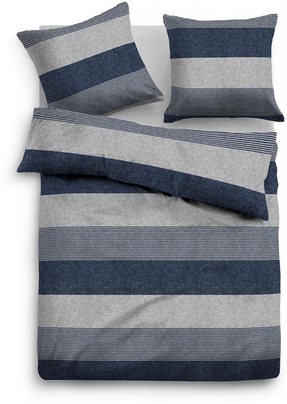 Bettwäsche Tom Tailor Caro Mit Unterschiedlichen Streifen Auf von Tom Tailor Bettwäsche Biber Bild