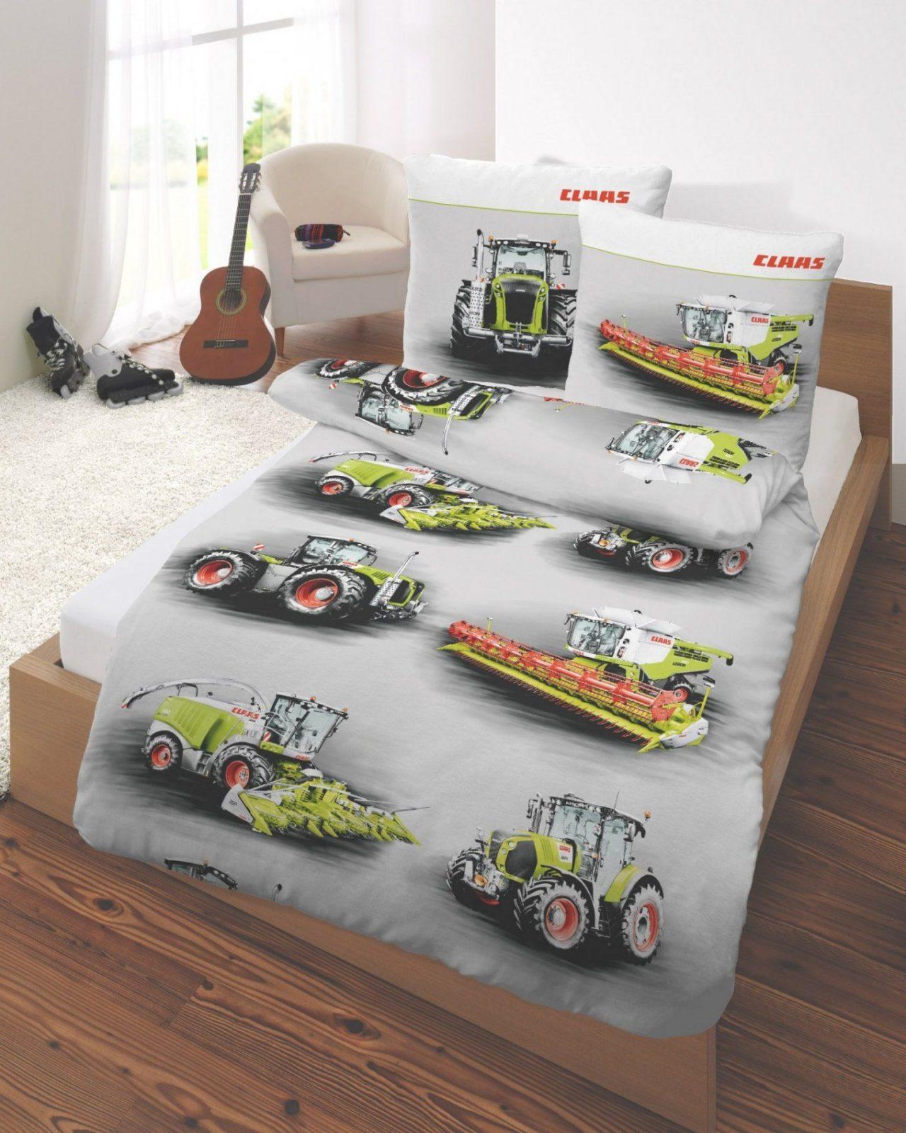 Bettwäsche Traktor Mähdrescher Claas Landmaschinen  Real von Traktor Bettwäsche 100X135 Bild
