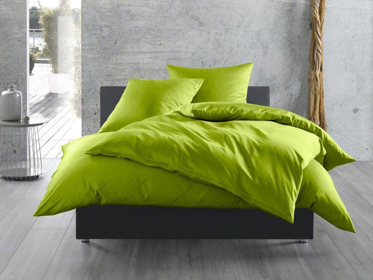 Bettwäsche Unieinfarbig Grün  Bettwaeschemitstil von Satin Bettwäsche Grün Photo