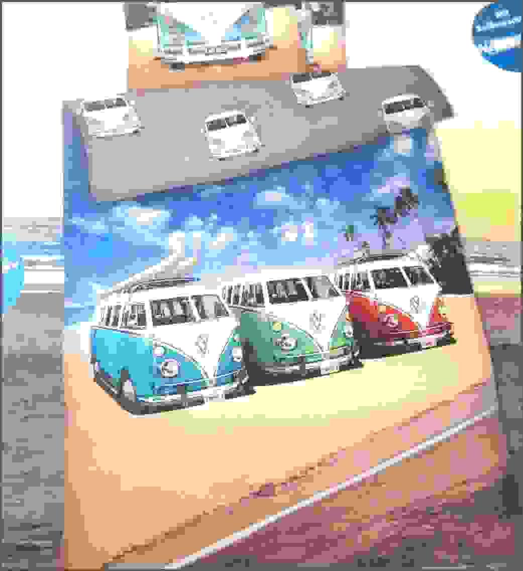 Bettwäsche Vw Bus Bulli Strand Palmen Bezug 135X200Cm Kissen Von von Vw Bus Bettwäsche Bild