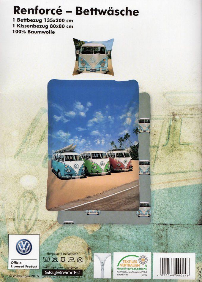 Renforcébettwäsche 135 X 200 Cm Motiv 1 Vw Real Von Vw Bus