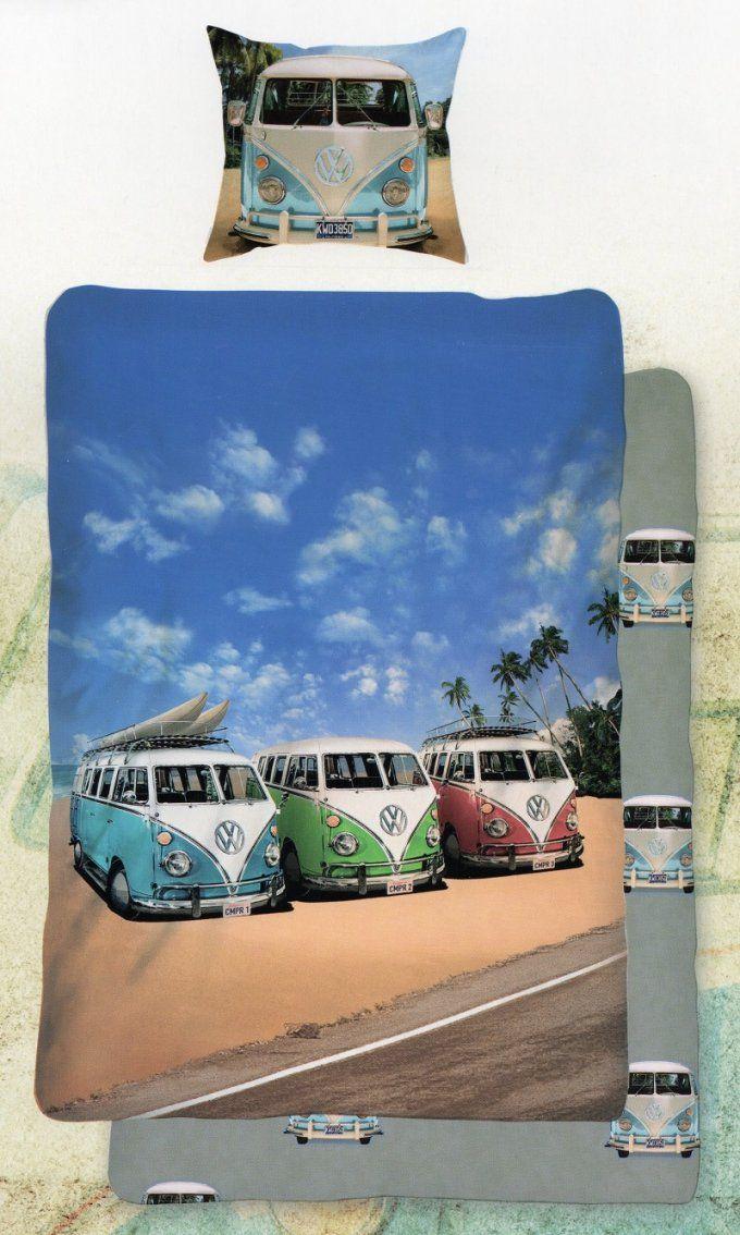 Bettwäsche Vw Bus Bulli  Transporter T1  135 X 200Cm + 80X 80Cm von Vw Bus Bettwäsche Bild