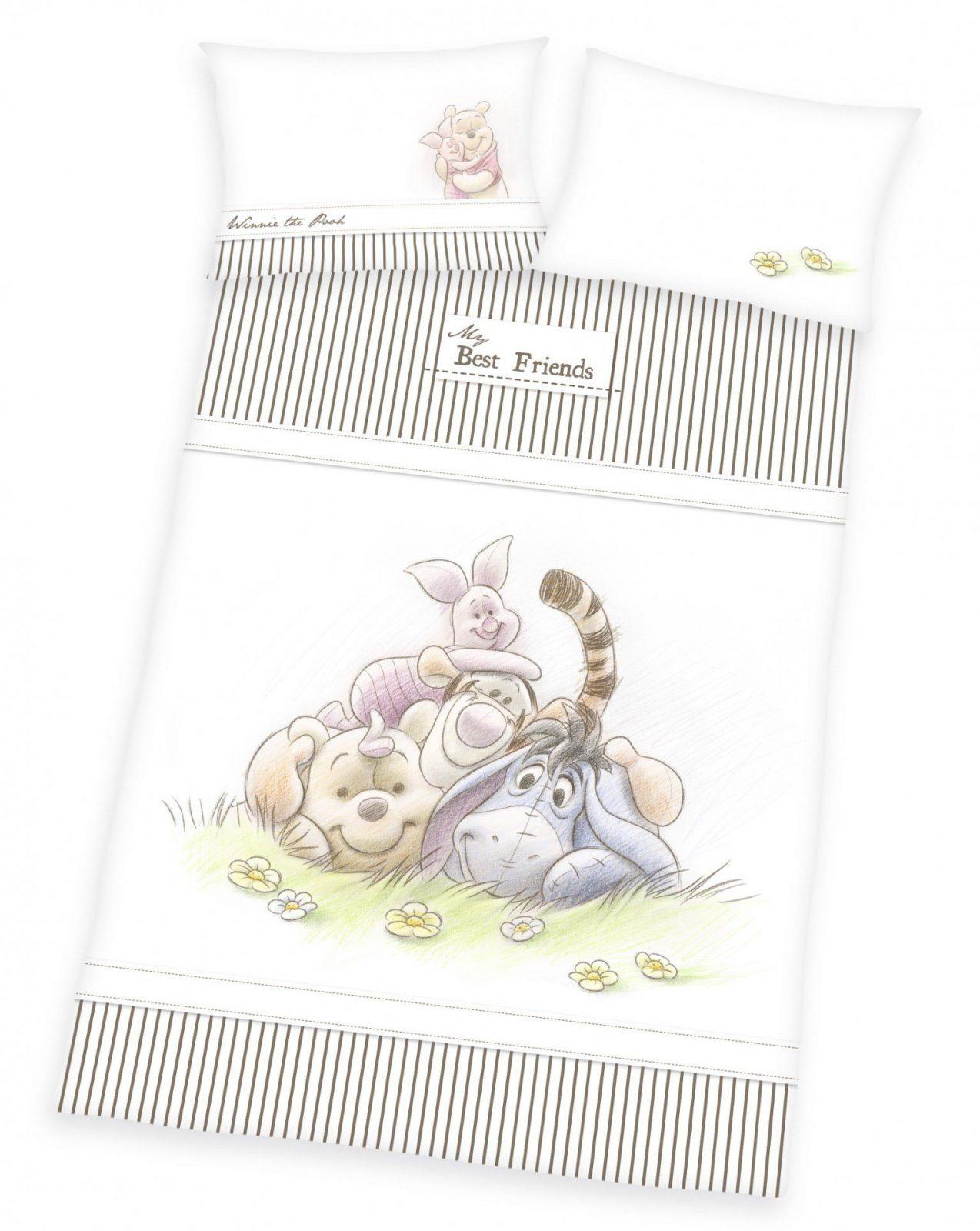 Bettwäsche Weiß Günstig Online Kaufen  Real  Dibinekadar Decoration von Bettwäsche Winnie Pooh 100X135 Photo