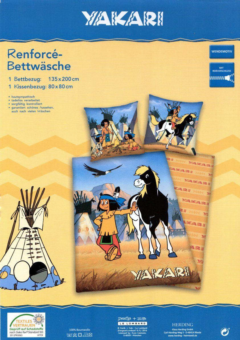 Bettwäsche Yakari Mit Pferd  135 X 200Cm  Baumwolle  Renforcé von Novel Bettwäsche 155X220 Photo