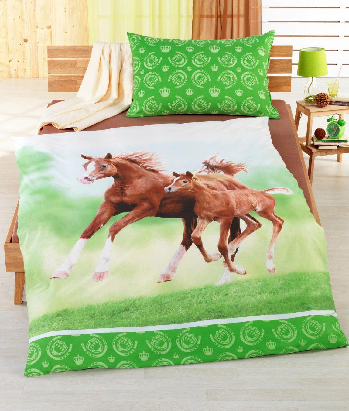Bettwäschegarnitur Pferd Mit Fohlen Baumwolle Renforcé Kaufen von Pferde Bettwäsche Baumwolle Photo