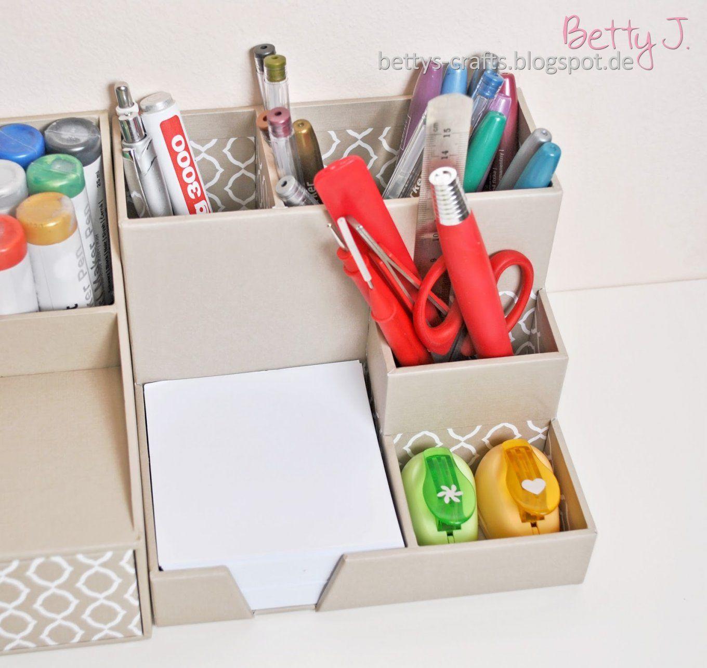 """Bettys Crafts Tchibopaket Auspacken Zum Thema """"ordnung Am von Schreibtisch Organizer Selber Bauen Bild"""
