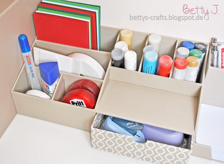 """Bettys Crafts Tchibopaket Auspacken Zum Thema """"ordnung Am von Schreibtisch Organizer Selber Machen Photo"""