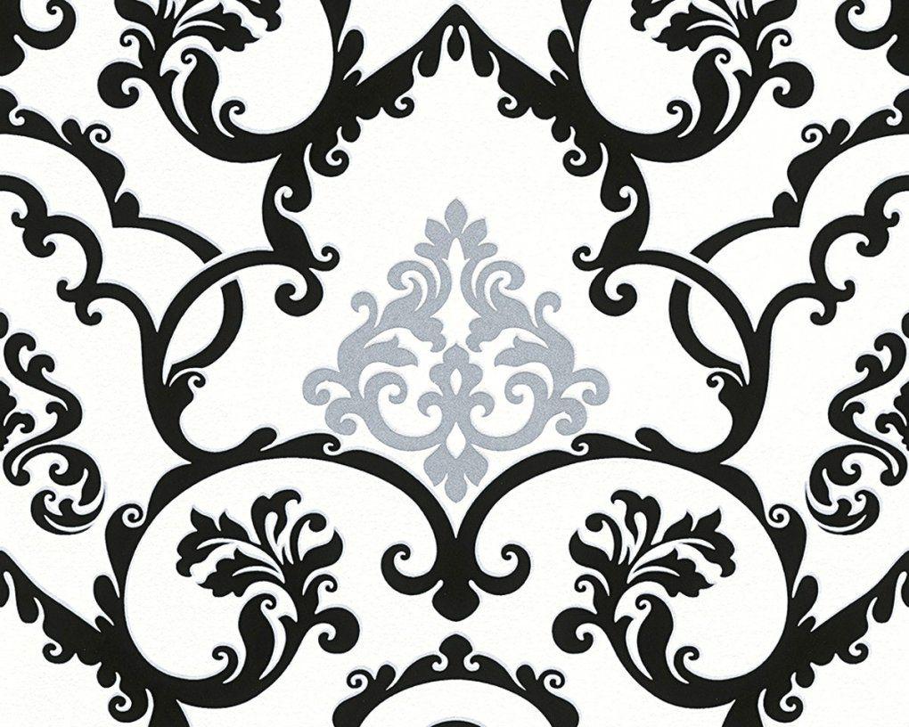 Bezaubernde Inspiration Tapete Schwarz Weiß Und Angenehme von Barock Tapete Schwarz Weiß Photo