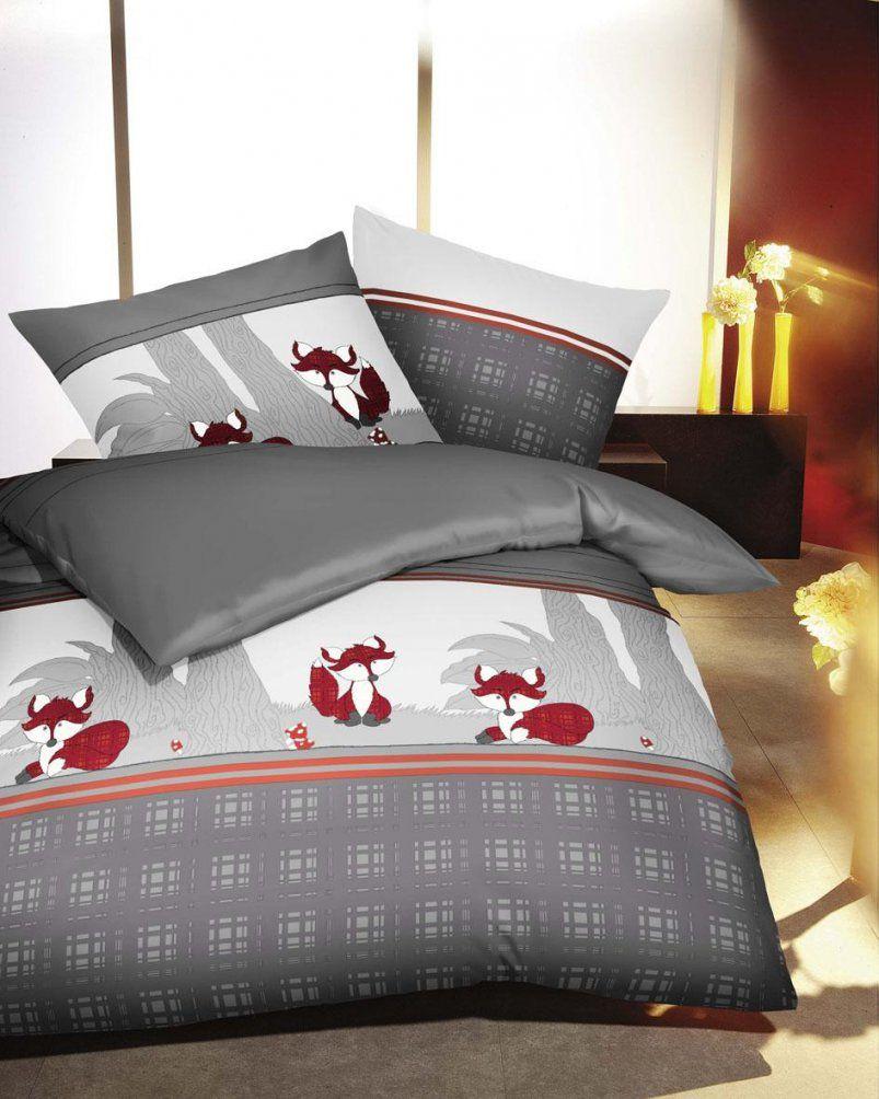 Biber Bettwäsche 135X200 + 80X80 Cm Kleine Nachtmusik Kleiner Fuchs von Kaeppel Biber Bettwäsche 135X200 Bild
