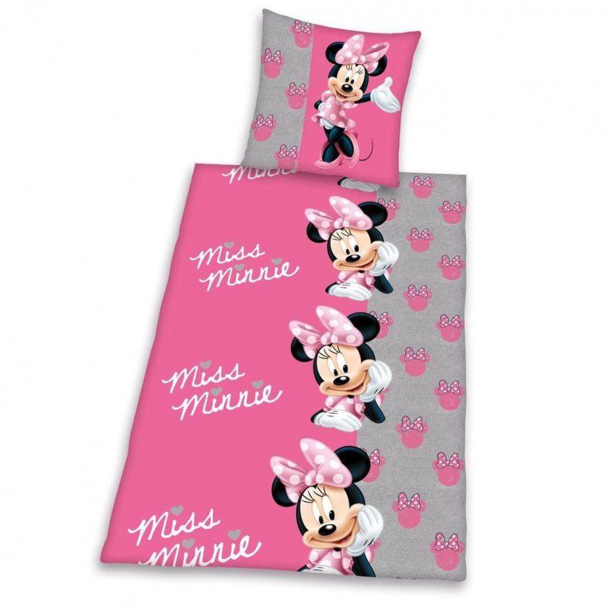 Biber Bettwäsche Disney Minnie Mouse 80 X 80 Cm   Real von Minni Maus Bettwäsche 100X135 Bild