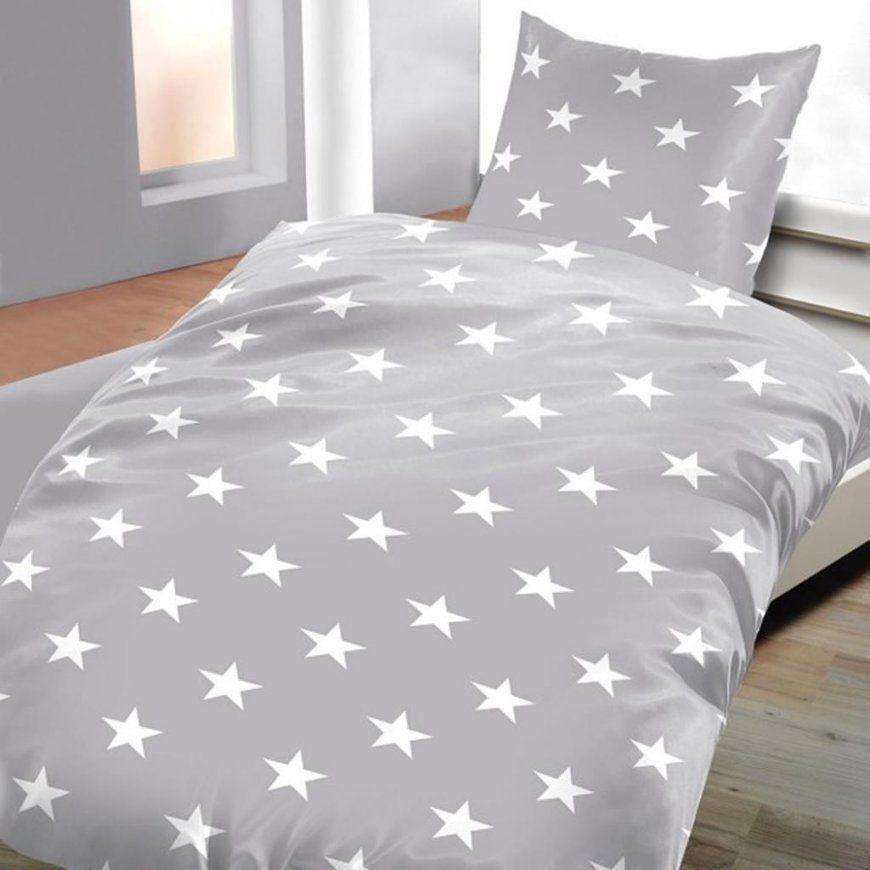 Biber Bettwäsche Grau Mit Sternen 135 X 200 Cm 80  Real von Biber Bettwäsche Sterne Grau Photo