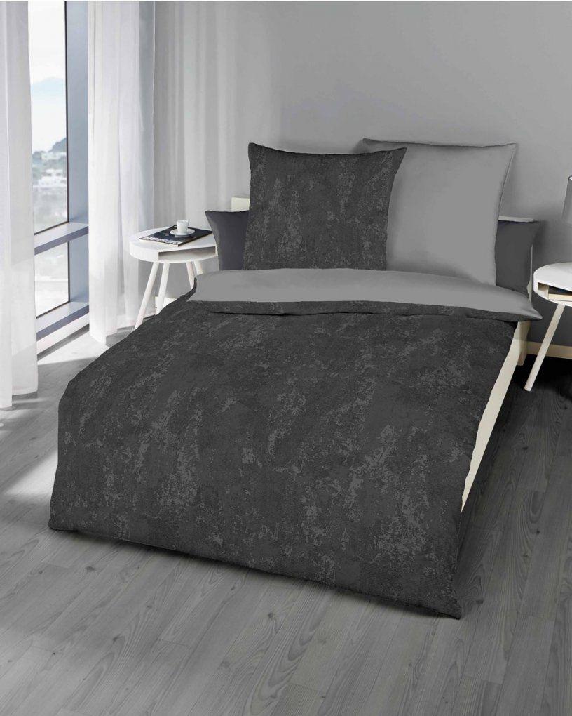 Biber Bettwäsche Grau Modern Design Günstig Kaufen von Graue Biber Bettwäsche Bild