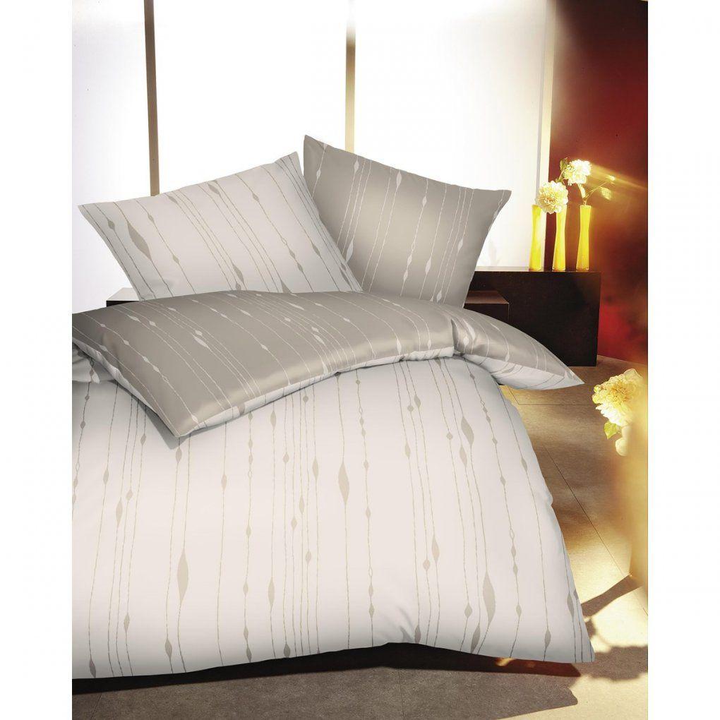 biber bettw sche in natur mit streifen muster g nstig kaufen von biber bettw sche 155x220. Black Bedroom Furniture Sets. Home Design Ideas