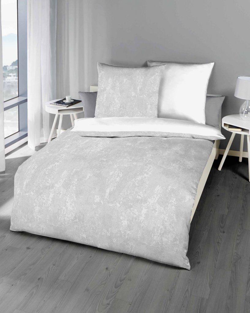 Biber Bettwäsche Schiefer Grau Modern Design Günstig Kaufen von Graue Biber Bettwäsche Bild
