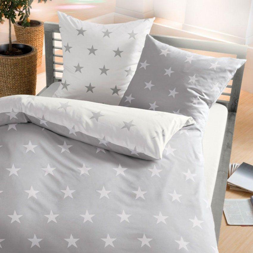 Biber Bettwäsche Stars Schiefer Online Kaufen  Bettwäsche von Bettwäsche Mit Sternen 155X220 Photo