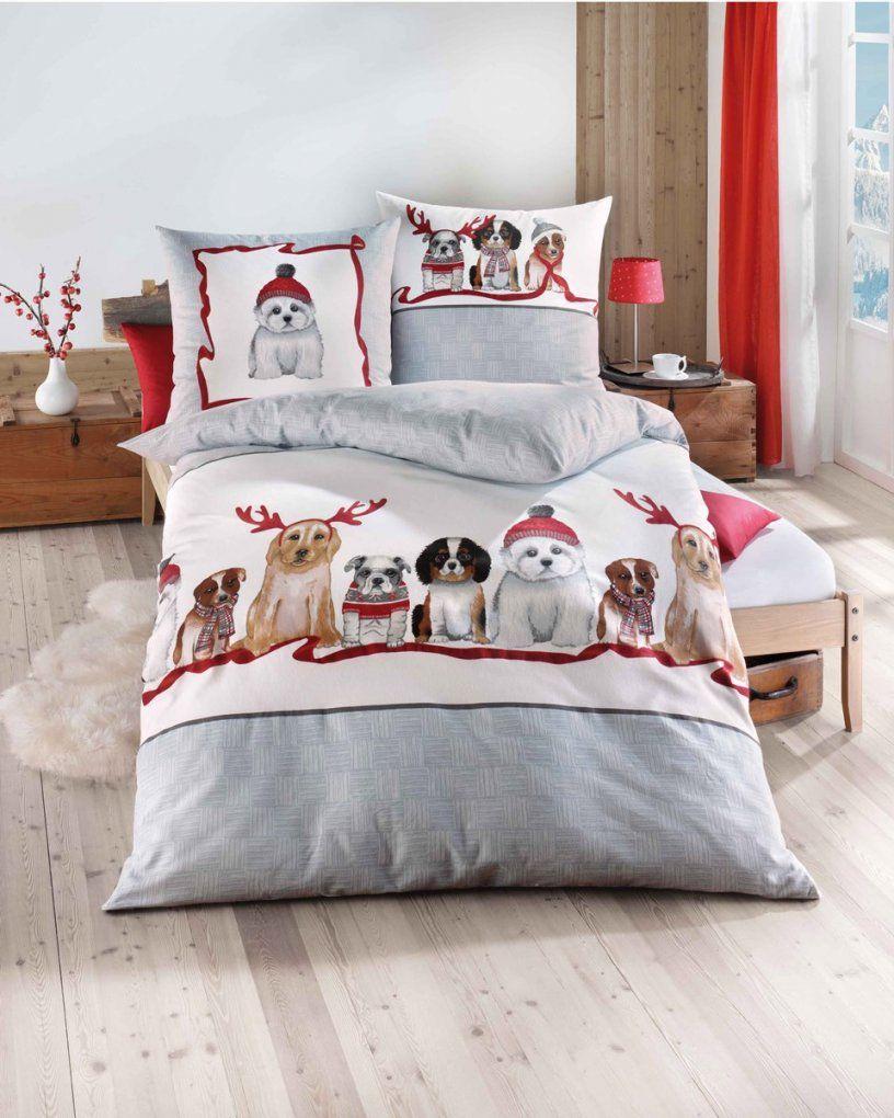 Biber Bettwäsche Weihnachten Motiv Eisbär In Grau von Schöne Biber Bettwäsche Bild
