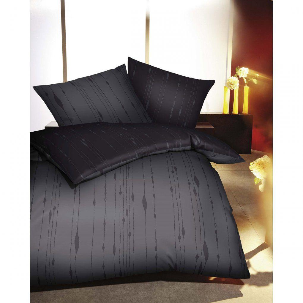 Biber Bettwäsche Zinn Grau Mit Streifen Günstig Kaufen von Kaeppel Biber Bettwäsche Bild