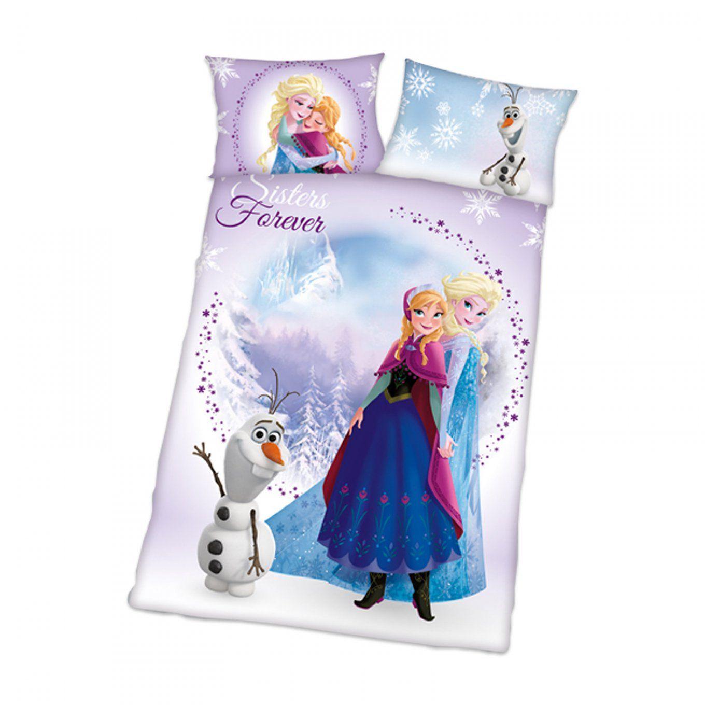 Biberbettwäsche Die Eiskönigin  100X135 Cm  Kinderbettwäsche von Biber Bettwäsche Kinderbett Photo