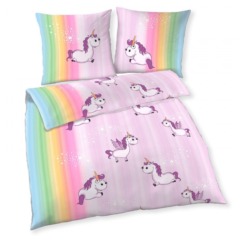 Biberbettwäsche  Einhorn  Flieder  135X200 Cm  Kinderbettwäsche von Biber Bettwäsche Kinderbett Bild